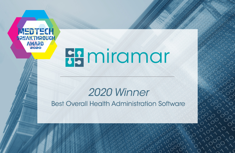 2020 MedTech Award Winner - Miramar Best Overall Heath Administration Software